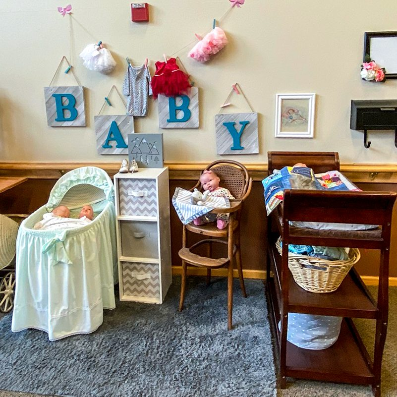 Life Station - Nursery, bassinet, highchair, changing table, baby clothes